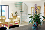 Bespoke Spiral Stair with 30mm laminated glass treads and vertical steel balustrade  Gallery Thumbnail