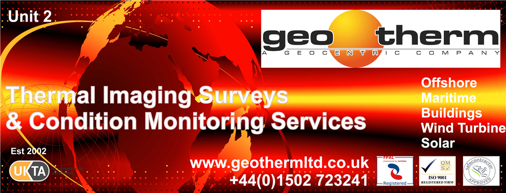 Geo Therm Ltd Banner, Including the Thermal Imaging Surveys And Condition Monitoring Services For Offshore, Building, Wind, Maritime & Solar Industries. Gallery Image