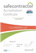 Geo Therm Ltd Are Delighted To Announce That Yet Again We Have Been Awarded With The Safe Contractor Accreditation, Proving Our Dedication To Safety And High Standard In Our Surveys. Gallery Thumbnail