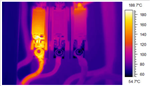 A Thermal Image Of A Fuse, Where One Of The Fuses (Hot Spot) Is Showing A Deficiency. The Naked Eye Could Not Detect This. Use Geo Therm Ltd To Help You Find Any Electrical Issues. Gallery Thumbnail