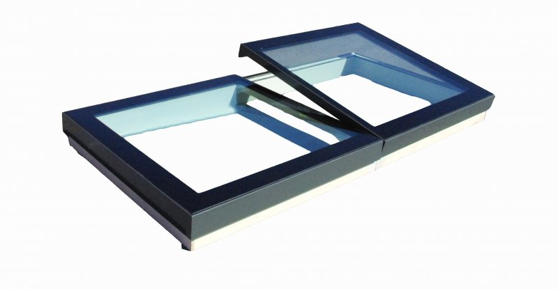 multi section opening skylight in flat glass manual or electric hinged Solarglaze Gallery Image
