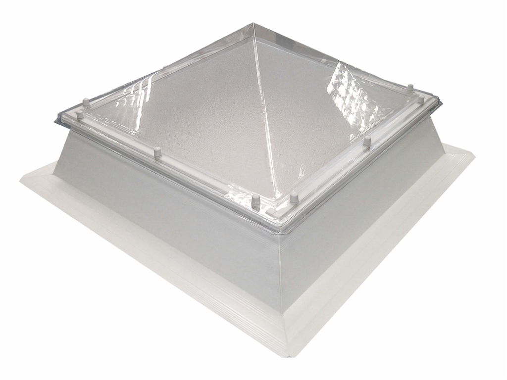 polycarbonate pyramid with PVC upstand rooflight skylight Coxdome Gallery Image
