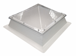 polycarbonate pyramid with PVC upstand rooflight skylight Coxdome Gallery Thumbnail