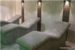 Ergonomic tiled heated loungers with electric or water undertile heating system Gallery Thumbnail