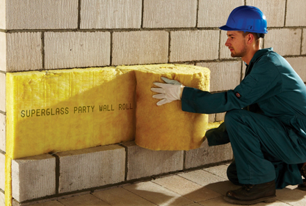 Superglass insulation ltd stirling insulation for Blown mineral wool cavity insulation