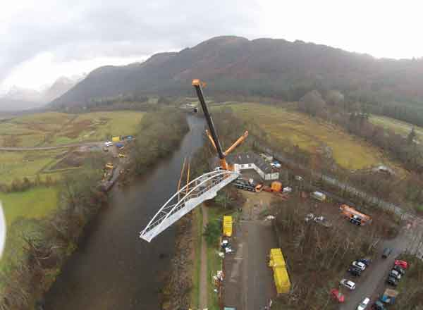 A New 32-Tonne Bridge Has Been Installed Over The River Nevis
