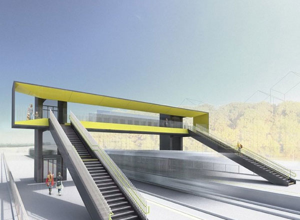 Competition Sought Innovative Design For Railway Footbridge