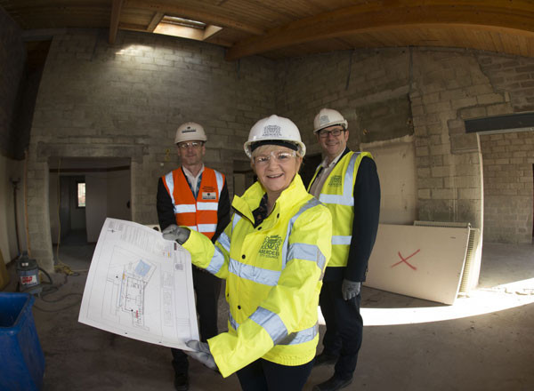 Council Co-leaders Visit Site To See Start Of Works